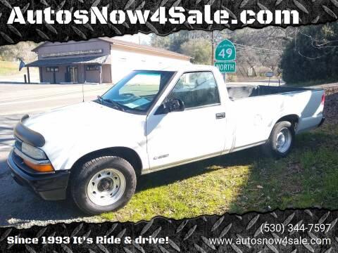 2001 Chevrolet S-10 for sale at AUCTION SERVICES OF CALIFORNIA in El Dorado CA