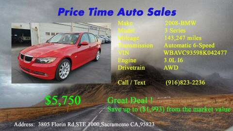 2008 BMW 3 Series for sale at PRICE TIME AUTO SALES in Sacramento CA