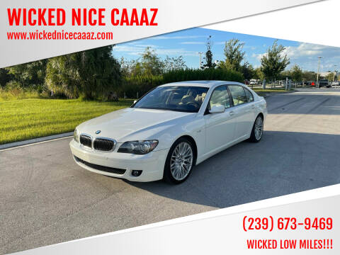 2008 BMW 7 Series for sale at WICKED NICE CAAAZ in Cape Coral FL