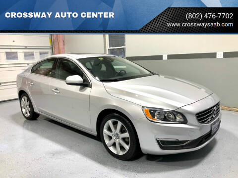 2016 Volvo S60 for sale at CROSSWAY AUTO CENTER in East Barre VT