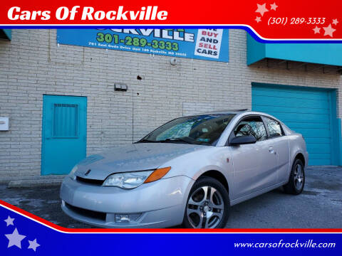 2005 Saturn Ion for sale at Cars Of Rockville in Rockville MD