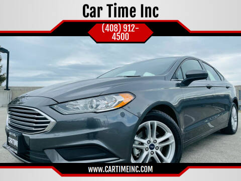 2018 Ford Fusion for sale at Car Time Inc in San Jose CA