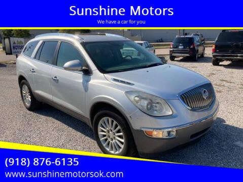 2012 Buick Enclave for sale at Sunshine Motors in Bartlesville OK