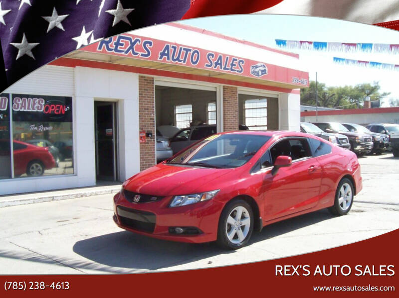 2013 Honda Civic for sale at Rex's Auto Sales in Junction City KS