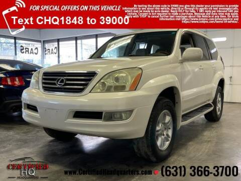 2004 Lexus GX 470 for sale at CERTIFIED HEADQUARTERS in St James NY