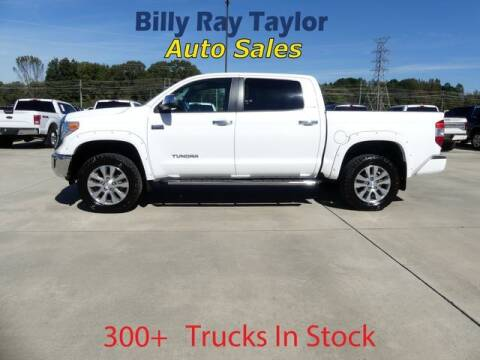 2017 Toyota Tundra for sale at Billy Ray Taylor Auto Sales in Cullman AL