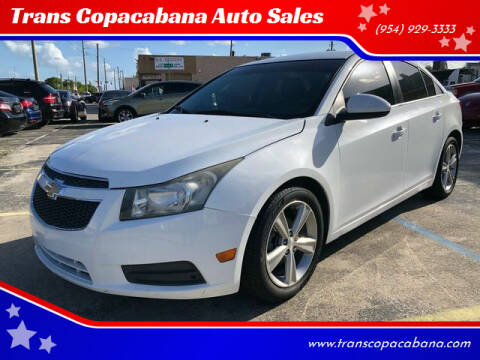 2012 Chevrolet Cruze for sale at Trans Copacabana Auto Sales in Hollywood FL