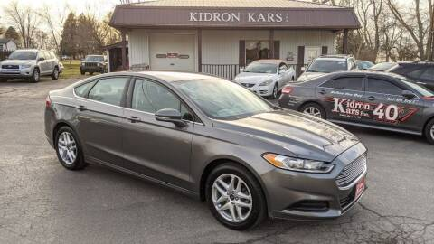 2014 Ford Fusion for sale at Kidron Kars INC in Orrville OH