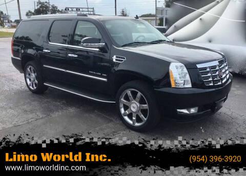 2012 Cadillac Escalade ESV for sale at Limo World Inc. in Seminole FL