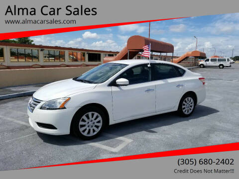 2013 Nissan Sentra for sale at Alma Car Sales in Miami FL