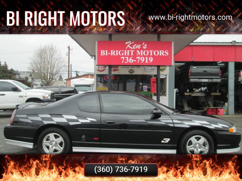 2001 Chevrolet Monte Carlo for sale at Bi Right Motors in Centralia WA