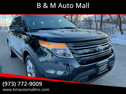 2013 Ford Explorer for sale at B & M Auto Mall in Clifton NJ