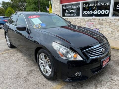 2013 Infiniti G37 Sedan for sale at GOL Auto Group in Austin TX