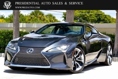 2018 Lexus LC 500 for sale at Presidential Auto  Sales & Service in Delray Beach FL