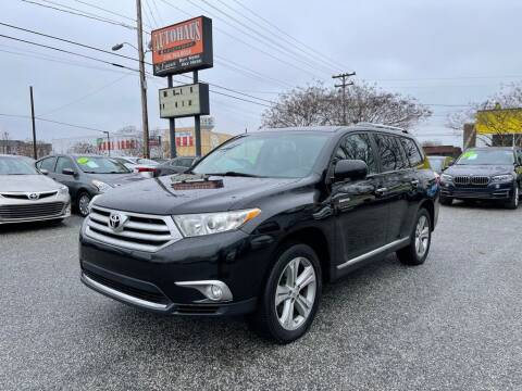 2012 Toyota Highlander for sale at Autohaus of Greensboro in Greensboro NC