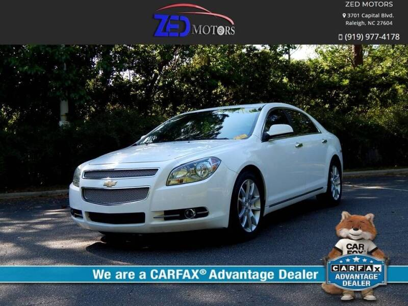 2012 Chevrolet Malibu for sale at Zed Motors in Raleigh NC