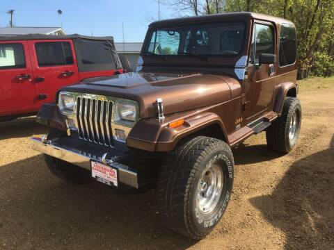 1987 Jeep Wrangler for sale at Louisburg Garage, Inc. in Cuba City WI
