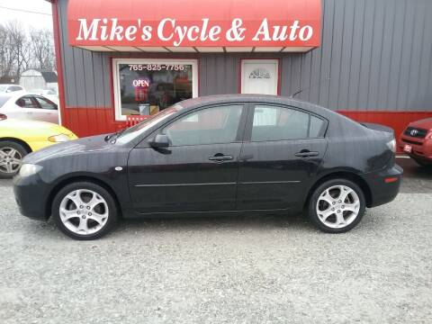 2008 Mazda MAZDA3 for sale at MIKE'S CYCLE & AUTO in Connersville IN