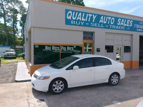 2008 Honda Civic for sale at QUALITY AUTO SALES OF FLORIDA in New Port Richey FL
