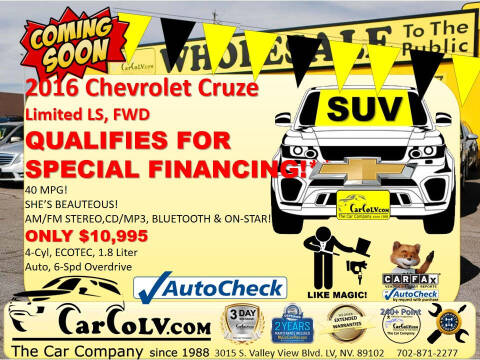 2016 Chevrolet Cruze Limited for sale at The Car Company in Las Vegas NV