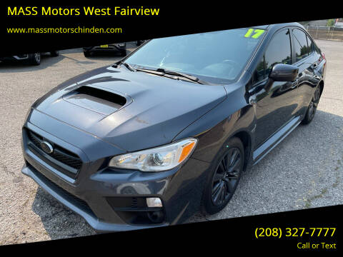 2017 Subaru WRX for sale at MASS Motors West Fairview in Boise ID