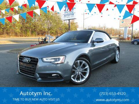 2014 Audi A5 for sale at AUTOTYM INC in Fredericksburg VA