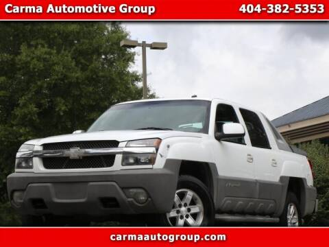 2002 Chevrolet Avalanche for sale at Carma Auto Group in Duluth GA