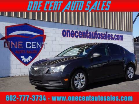 2014 Chevrolet Cruze for sale at One Cent Auto Sales in Glendale AZ