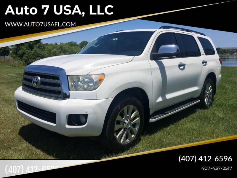 2010 Toyota Sequoia for sale at Auto 7 USA, LLC in Orlando FL