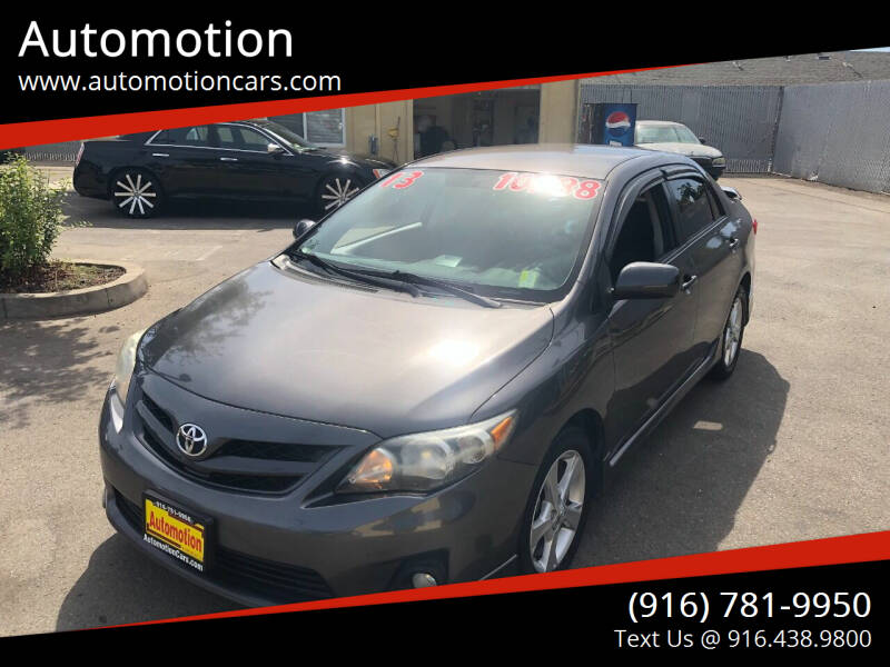 2013 Toyota Corolla for sale at Automotion in Roseville CA