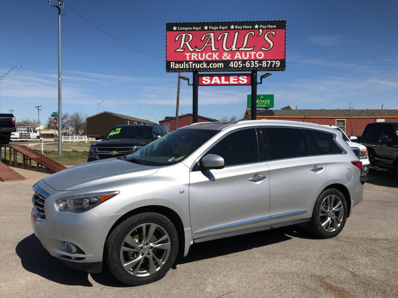 2014 Infiniti QX60 for sale at RAUL'S TRUCK & AUTO SALES, INC in Oklahoma City OK