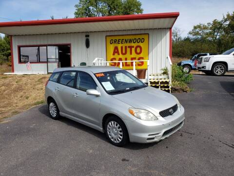 2004 Toyota Matrix for sale at Greenwood Auto Sales in Greenwood AR
