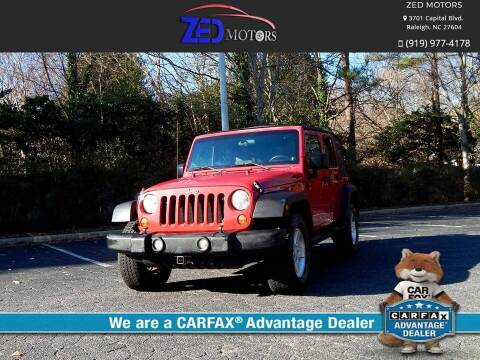2008 Jeep Wrangler Unlimited for sale at Zed Motors in Raleigh NC