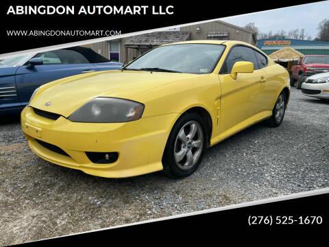 2006 Hyundai Tiburon for sale at ABINGDON AUTOMART LLC in Abingdon VA