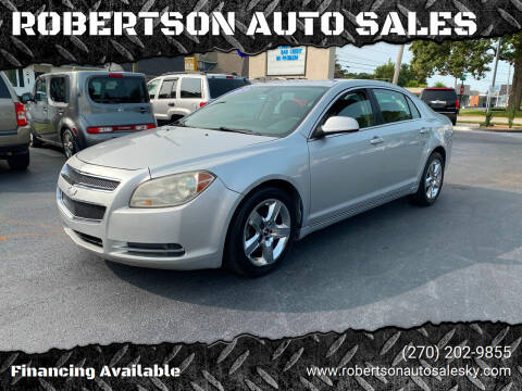 2010 Chevrolet Malibu for sale at ROBERTSON AUTO SALES in Bowling Green KY