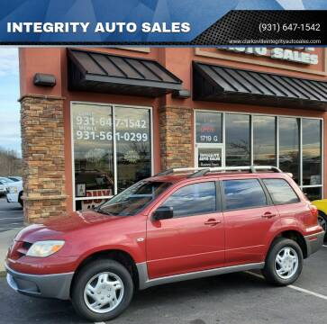 2006 Mitsubishi Outlander for sale at INTEGRITY AUTO SALES in Clarksville TN