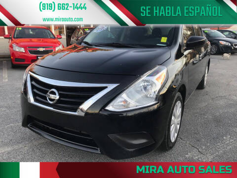 2017 Nissan Versa for sale at Mira Auto Sales in Raleigh NC