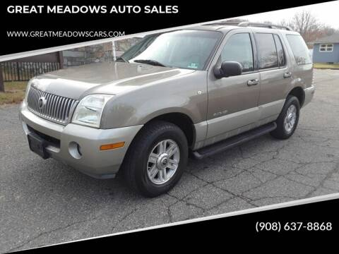 2002 Mercury Mountaineer for sale at GREAT MEADOWS AUTO SALES in Great Meadows NJ