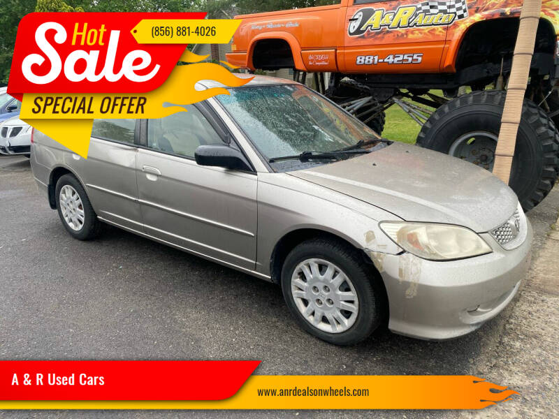 2005 Honda Civic for sale at A & R Used Cars in Clayton NJ