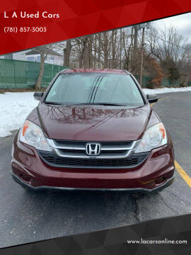 2011 Honda CR-V for sale at L A Used Cars in Abington MA