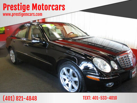 2008 Mercedes-Benz E-Class for sale at Prestige Motorcars in Warwick RI