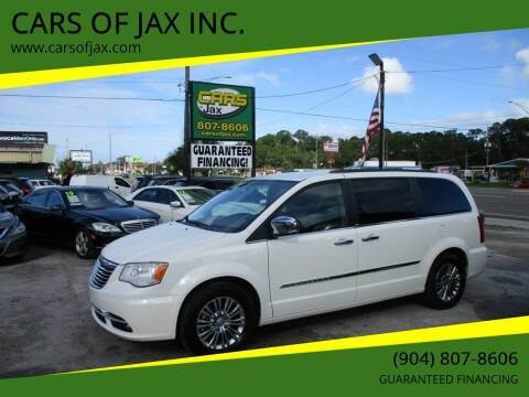2013 Chrysler Town and Country for sale at CARS OF JAX INC. in Jacksonville FL