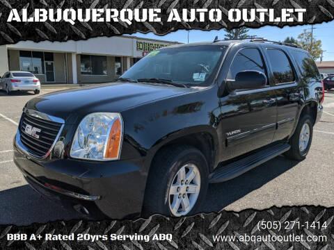 2013 GMC Yukon for sale at ALBUQUERQUE AUTO OUTLET in Albuquerque NM