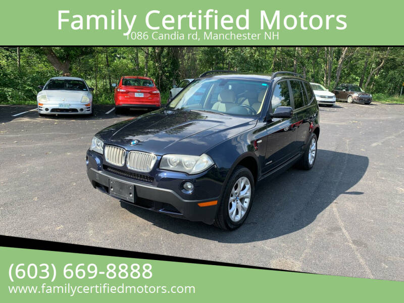 2009 BMW X3 for sale at Family Certified Motors in Manchester NH