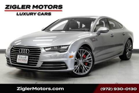 2016 Audi A7 for sale at Zigler Motors in Addison TX