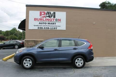 2014 Honda CR-V for sale at Burlington Auto Mart in Burlington NC