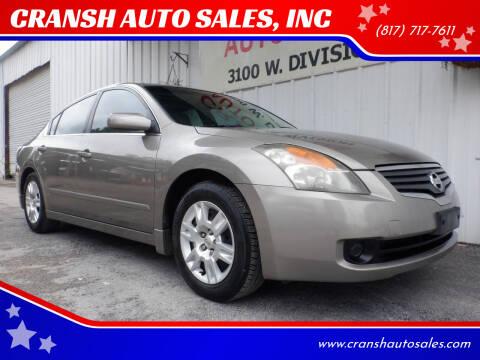 2007 Nissan Altima for sale at CRANSH AUTO SALES, INC in Arlington TX
