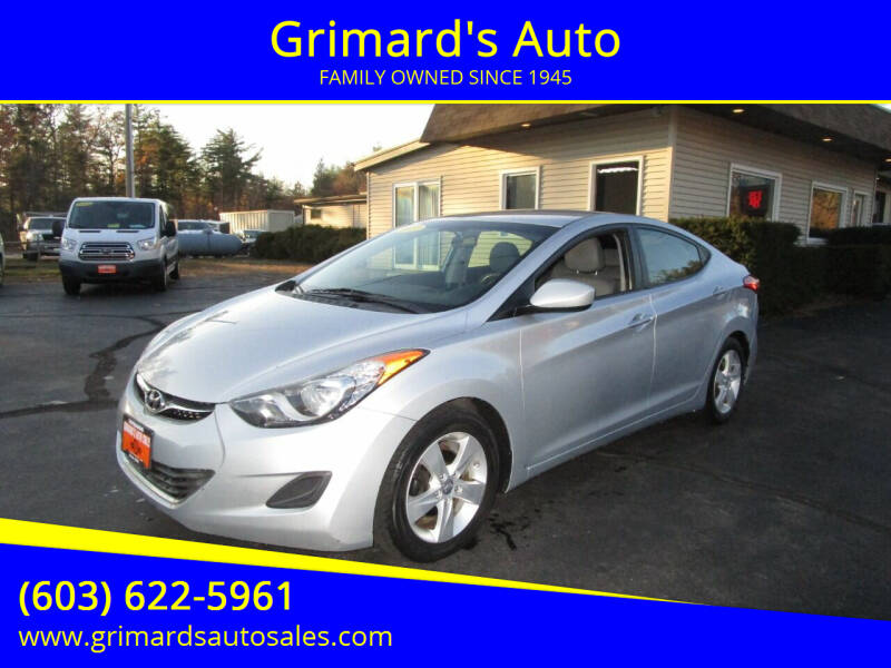 2013 Hyundai Elantra for sale at Grimard's Auto in Hooksett, NH