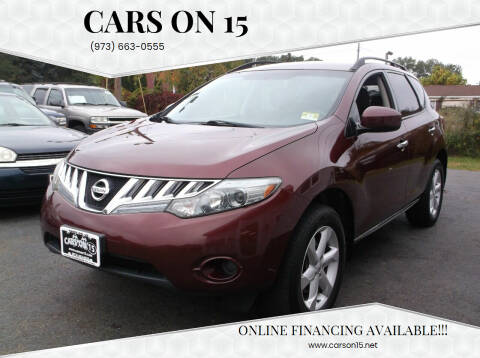 2009 Nissan Murano for sale at Cars On 15 in Lake Hopatcong NJ