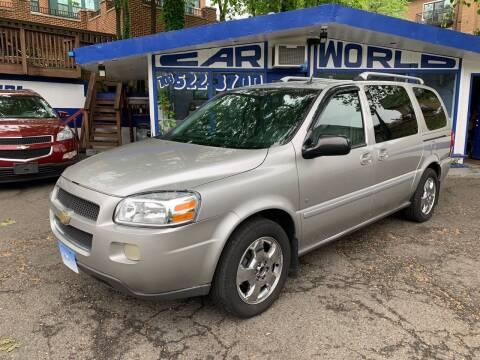 2007 Chevrolet Uplander for sale at Car World Inc in Arlington VA